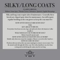 silky long coat
